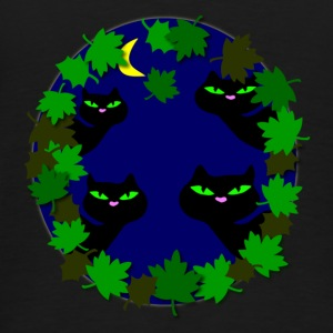 cats in moonlight by patjila Kinder Pullover - Männer Premium T-Shirt