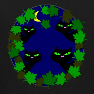 cats in moonlight by patjila Bags  - Men's Premium T-Shirt
