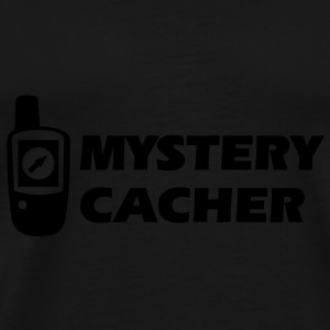 Geocaching GPS Mystery Cacher Caps & Hats - Men's Premium T-Shirt