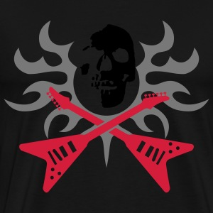 skull tribal guitars Hoodies & Sweatshirts - Men's Premium T-Shirt