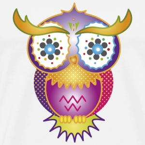A psychedelic owl Mugs  - Men's Premium T-Shirt