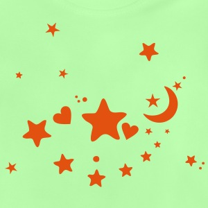 Starry night. Stars, Sky, Moon, Hearts Hoodies - Baby T-Shirt