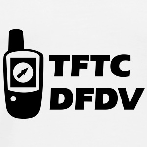 Geocaching GPS TFTC Thanks for the Cache DFDV Buttons - Men's Premium T-Shirt