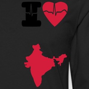 मैं प्यार भारत कमीज I Love India t-shirt  - Men's Premium Longsleeve Shirt
