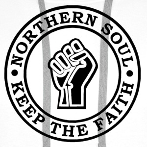 Northern Soul Keep the faith button badge - Men's Premium Hoodie