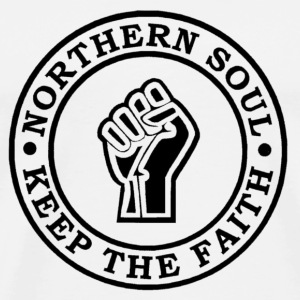 Northern Soul Keep the faith button badge - Men's Premium T-Shirt