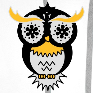 A psychedelic owl T-Shirts - Men's Premium Hoodie