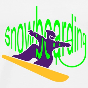 A snowboarder on the board Mugs  - Men's Premium T-Shirt