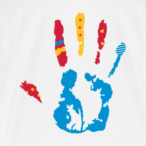 A colorful hand print with various shapes Bags  - Men's Premium T-Shirt