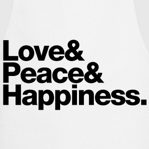love peace happiness T-Shirts - Cooking Apron