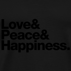 love peace happiness Tasker - Herre premium T-shirt