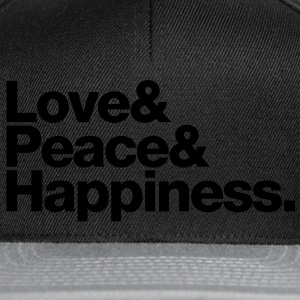love peace happiness Sacs - Casquette snapback
