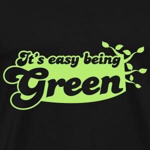 It's easy being green Bags  - Men's Premium T-Shirt