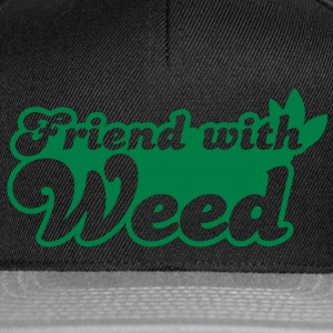 FRIEND with weed Bags  - Snapback Cap