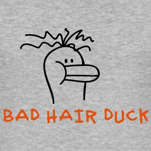 Bad Hair Duck Gensere - Slim Fit T-skjorte for menn
