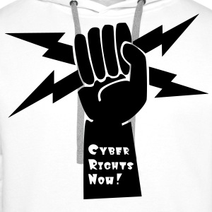 Cyber Rights Now! T-Shirts - Männer Premium Hoodie