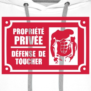 propriete prive defense toucher6 men Tee shirts - Sweat-shirt à capuche Premium pour hommes