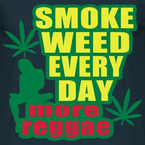 smoke weed every day more reggae - T-shirt herr