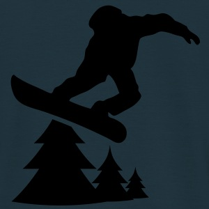 snowboarding tree 1c Sweat-shirts - T-shirt Homme