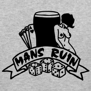 1 colour - mans ruin pin up girl sex drugs rock n roll junggesellenabschied Chaquetas - Camiseta ajustada hombre