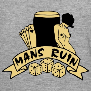 2 colours - mans ruin pin up girl sex drugs rock n roll junggesellenabschied Chaquetas - Camiseta de manga larga premium hombre