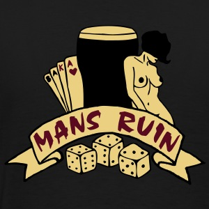 3 colours - mans ruin pin up girl sex drugs rock n roll junggesellenabschied Poloshirts - Männer Premium T-Shirt