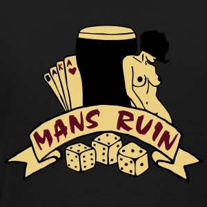3 colours - mans ruin pin up girl sex drugs rock n roll junggesellenabschied Coats & Jackets - Men's Premium T-Shirt