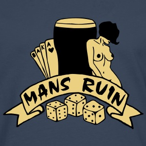 2 colours - mans ruin pin up girl sex drugs rock n roll junggesellenabschied Pullover - Männer Premium Langarmshirt