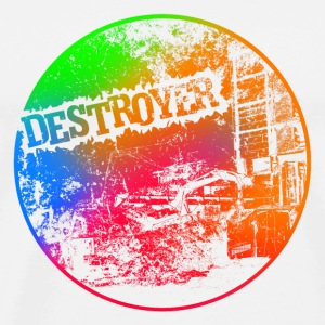Destroyer Button by sixnineline - Männer Premium T-Shirt
