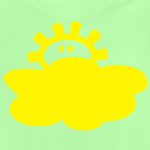 cute sun and clouds nature  vector art Kids'-Hoodie - Baby T-Shirt