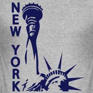 Lady Liberty, New York, NY, Freiheitsstatue, Statue of Liberty, www.eushirt.com - Männer Slim Fit T-Shirt