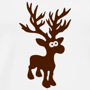 cute moose caribou reindeer deer christmas norway rudolph rudolf winter scandinavia canada Mugs  - Men's Premium T-Shirt