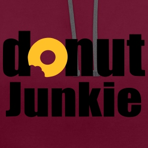 donut junkie Bags  - Contrast Colour Hoodie