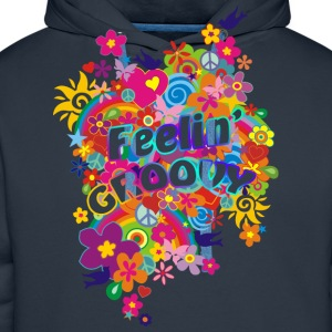 NEW FLOWER POWER RAINBOW - feelin' groovy | unisex shirt - Männer Premium Hoodie