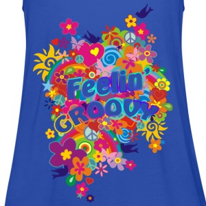 NEW FLOWER POWER RAINBOW - feelin' groovy | unisex shirt - Frauen Tank Top von Bella