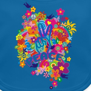 NEW FLOWER POWER RAINBOW - PEACE | Kindershirt - Baby Bio-Lätzchen