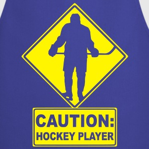 CAUTION: Hockey Player Kids' Shirts - Cooking Apron