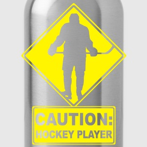 'CAUTION: Hockey Player' Kids' T-Shirt - Trinkflasche