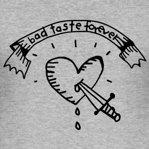 Heart Tattoo Bad Taste Tröjor - Slim Fit T-shirt herr