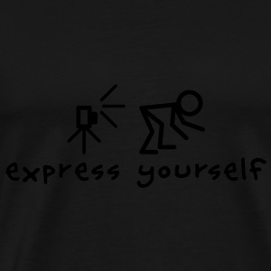 Express Yourself Sweaters - Mannen Premium T-shirt