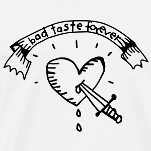 Heart Tattoo Bad Taste Barnegensere - Premium T-skjorte for menn