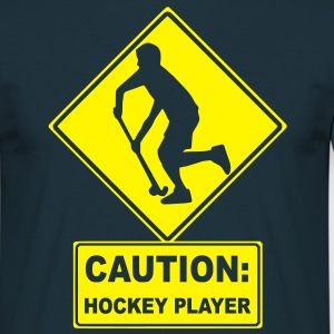 CAUTION: Hockey Player  Aprons - Men's T-Shirt