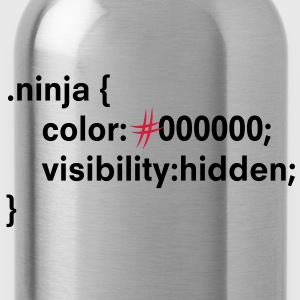 CSS ninja - HTML, CSS, Coding Pullover - Trinkflasche