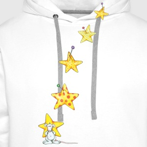 The mouse and the stars  Aprons - Men's Premium Hoodie