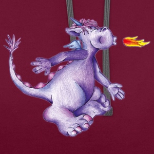 little purple firedragon T-shirts - Kontrastluvtröja