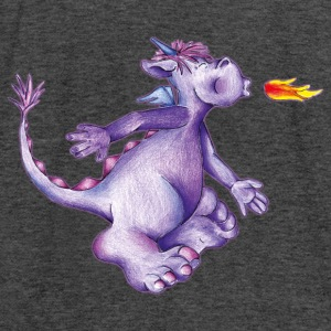 little purple firedragon Sweatshirts - Dame tanktop fra Bella