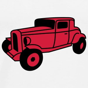 2 color Oldtimer Hot Rod Straßenkreuzer Rock and Roll Custom Car Tröjor - Premium-T-shirt herr