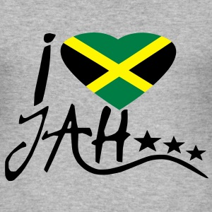 i love jah Sweaters - slim fit T-shirt
