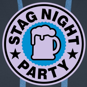 Stag Night | Bachelor Party | Beer | Bier T-Shirts - Premiumluvtröja herr