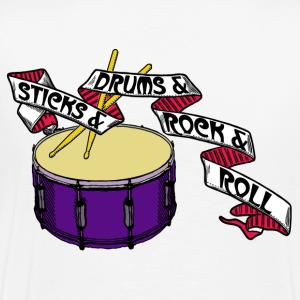 Sticks+Drums+Rock+Roll Part 2 - Männer Premium T-Shirt